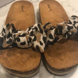 New Cheetah Slide Sandals